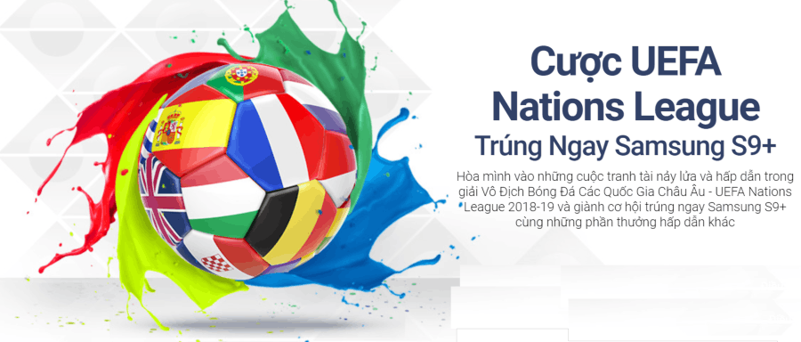 Khởi Động UEFA Nations League, trúng Galaxy S9 Plus
