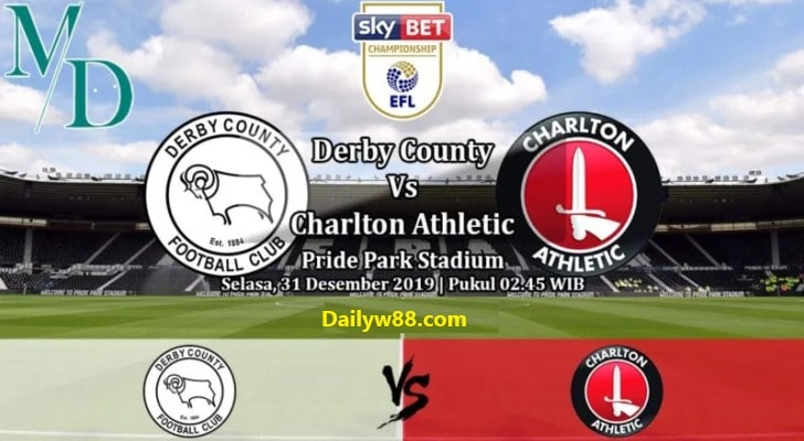 Soi kèo Derby County vs Charlton Athletic 02h45' ngày 31/12/2019