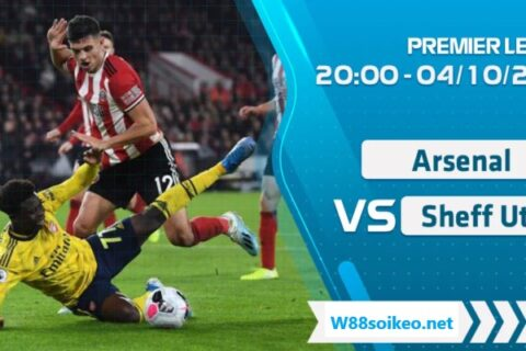 soi kèo trận Arsenal vs Sheffield United
